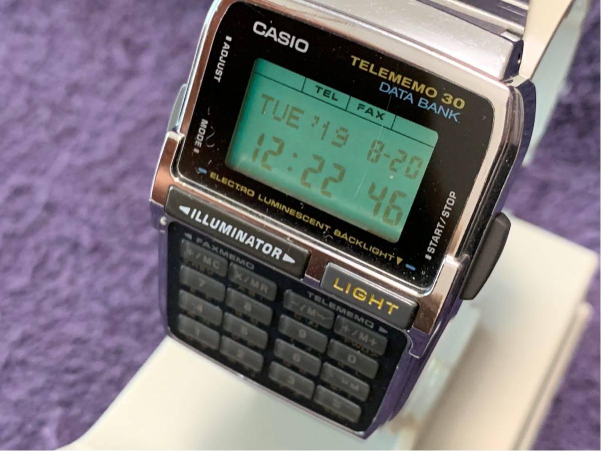 ★ CASIO カシオ DBC-300 1253 DATABANK データバンク 腕時計 稼動品 デジタル レア シルバー 黒 黄 ステンレス ビンテージ 美品 希少 ★_画像2