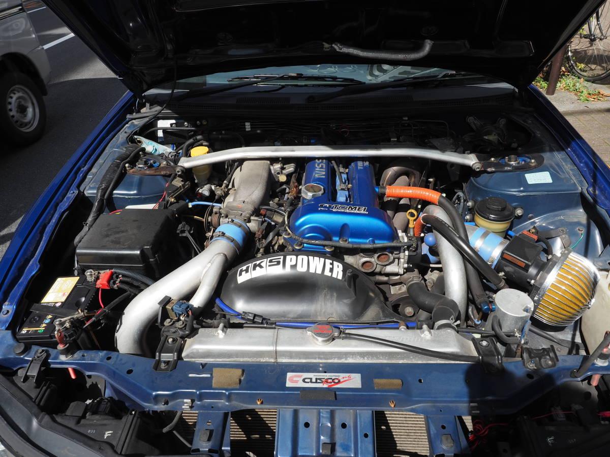 シルビアスペックR S15改 東名2・1Lエンジン HKSタービン インタークーラー LSDなど改造多数_画像6