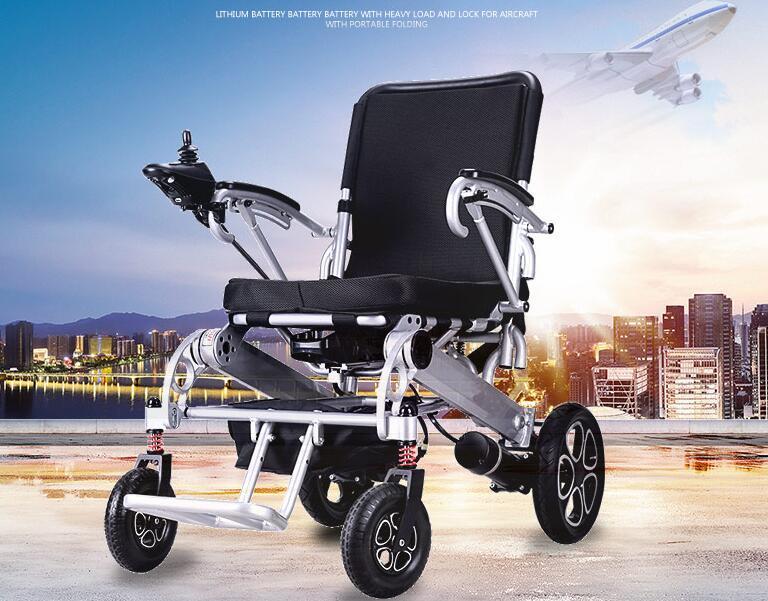 超美品 電動車椅子 老人 介助車椅子 リチウム電池 折り畳み可能 旅行 アルミニウム合金 ブラシなしモーター 折り畳み 家庭用 8107_画像1