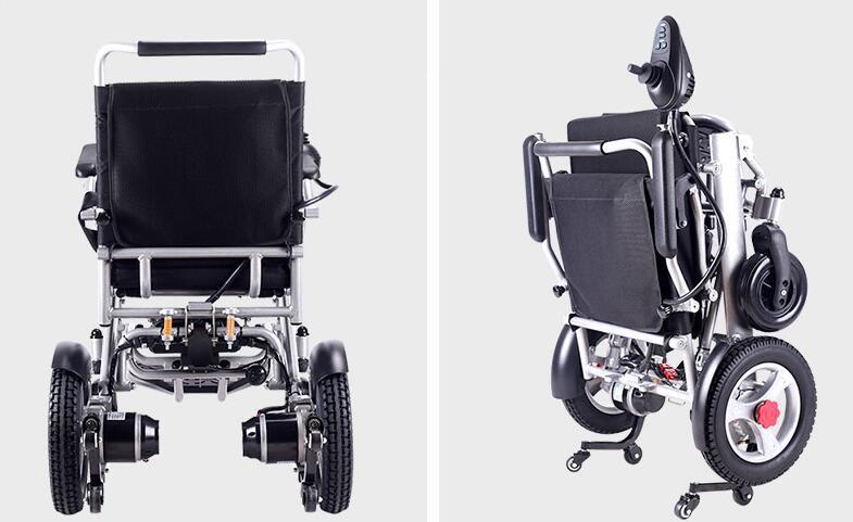 超美品 電動車椅子 老人 介助車椅子 リチウム電池 折り畳み可能 旅行 アルミニウム合金 ブラシなしモーター 折り畳み 家庭用 8107_画像6