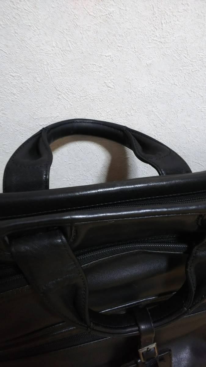 TUMI ビジネスショルダーバッグ 黒レザー(型番96111D4)_画像3