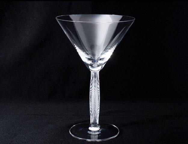 【美品】LALIQUE Diamond Martini Cocktail Wine Glassラリック ダイヤモンド マティーニ カクテル ワイン グラス 複数可_画像1