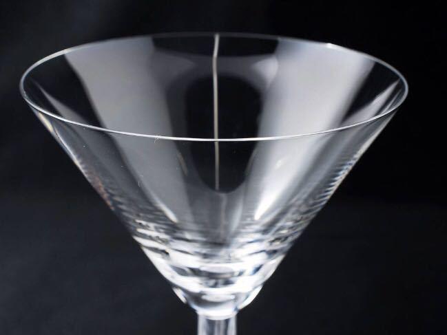 【美品】LALIQUE Diamond Martini Cocktail Wine Glassラリック ダイヤモンド マティーニ カクテル ワイン グラス 複数可_画像2