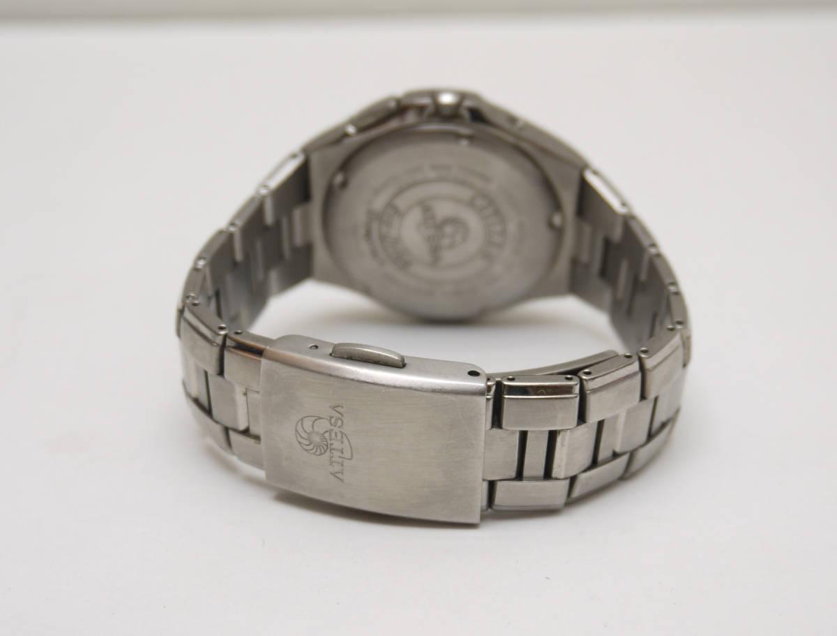 ■ CITIZEN シチズン アテッサ エコドライブ ソーラー 腕時計 H410-T003788 チタン製 動作品_画像2