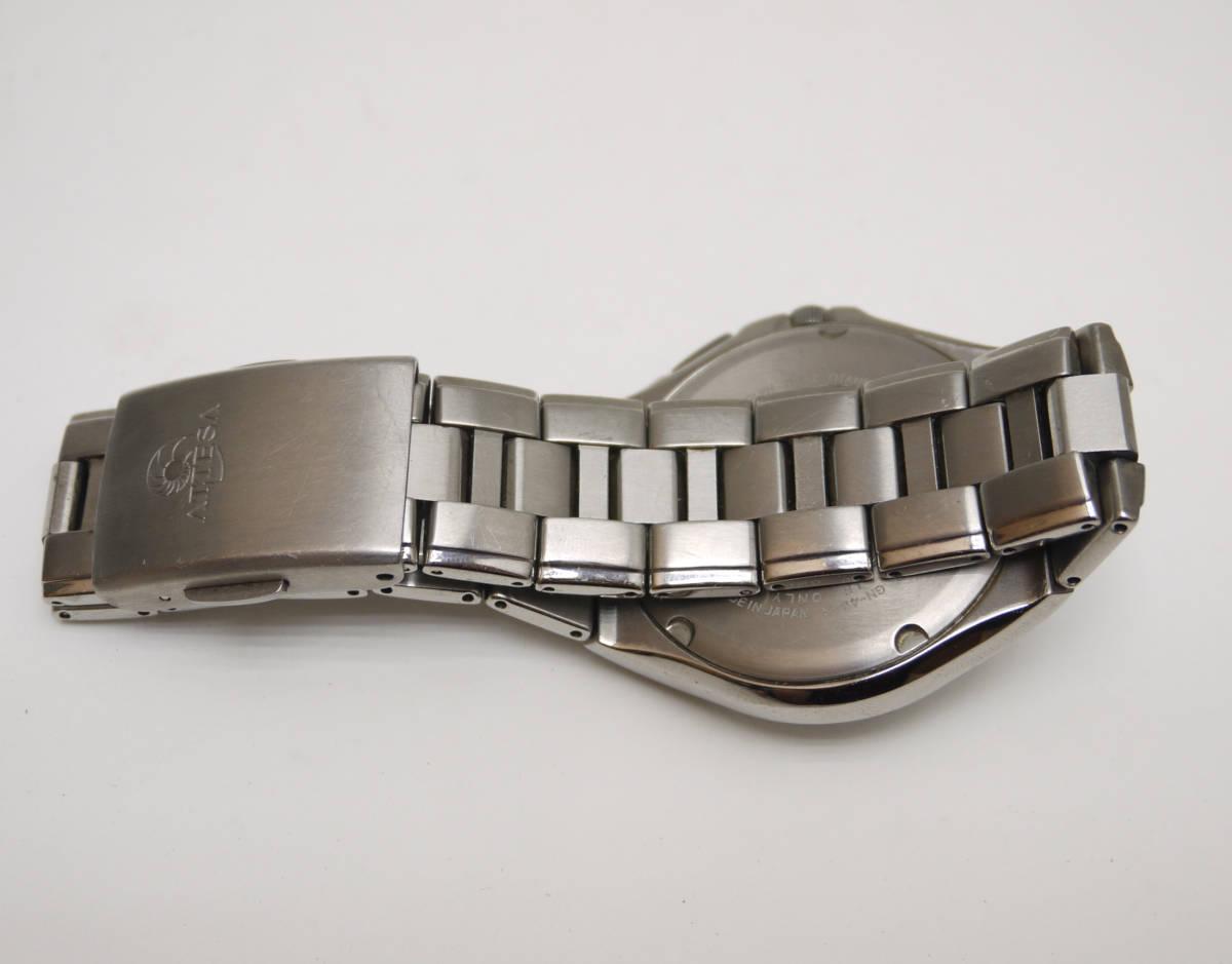 ■ CITIZEN シチズン アテッサ エコドライブ ソーラー 腕時計 H410-T003788 チタン製 動作品_画像6