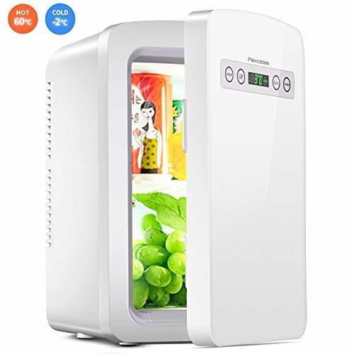 冷蔵庫 小型 ミニ冷蔵庫 10L冷温庫 LCD温度表示 家庭用 車載用小型冷温庫 AC110V/DC12V電源式_画像1