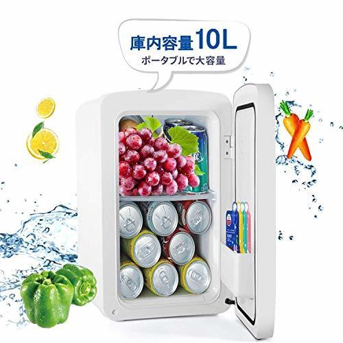 冷蔵庫 小型 ミニ冷蔵庫 10L冷温庫 LCD温度表示 家庭用 車載用小型冷温庫 AC110V/DC12V電源式_画像7