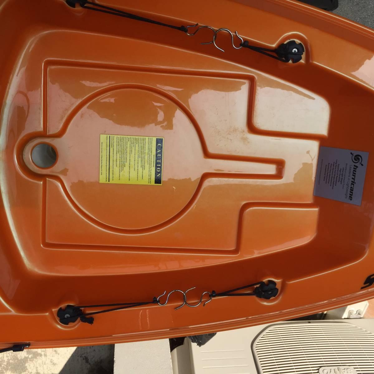 ◎最軽量! ABS製ハリケーンカヤックス スキマー116&4分割パドル&タモ網付き◎_画像5