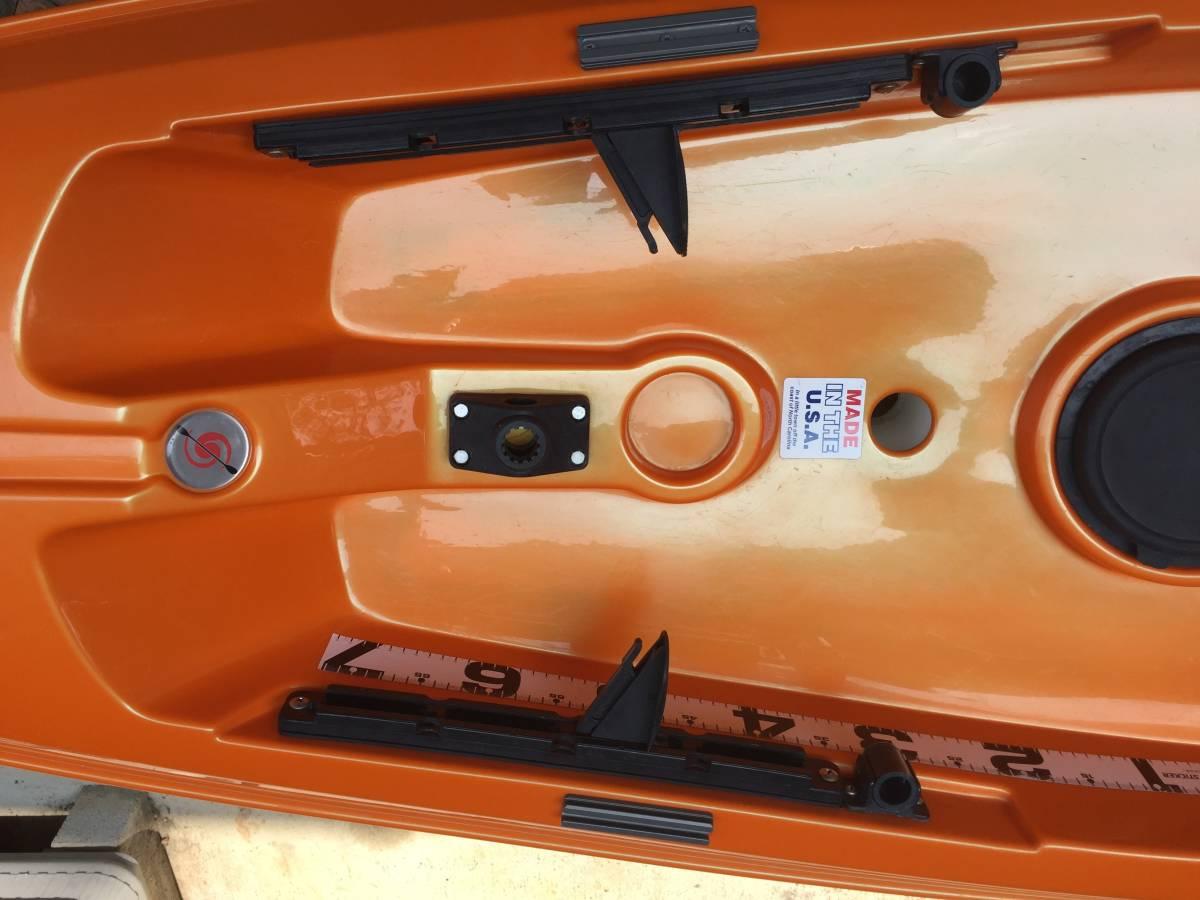 ◎最軽量! ABS製ハリケーンカヤックス スキマー116&4分割パドル&タモ網付き◎_画像3