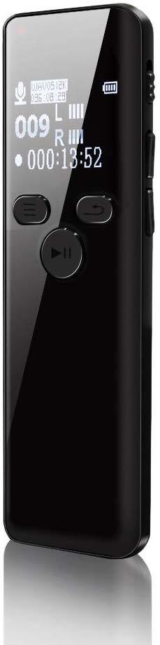 ボイスレコーダー ICレコーダー 録音機 ハイレゾ録音 8GB 広幅スクリーン 超薄 超軽量 1536kbps高音質 長時間録音 液晶画面 内蔵マイク
