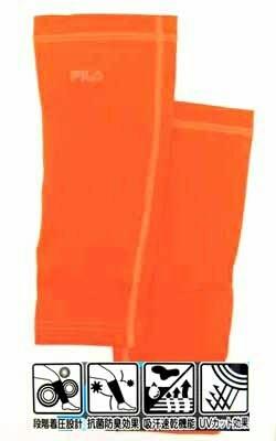 FILA メンズ コンプレッション レッグカバー オレンジ Mサイズ 両足2枚組×2ヶ ◆アウトレット◆_画像2