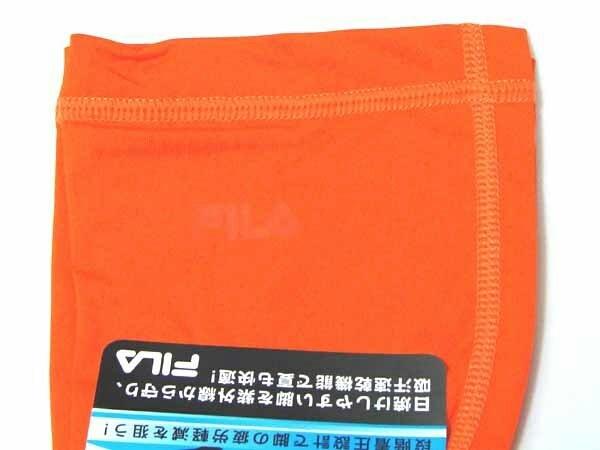 FILA メンズ コンプレッション レッグカバー オレンジ Mサイズ 両足2枚組×2ヶ ◆アウトレット◆_画像3