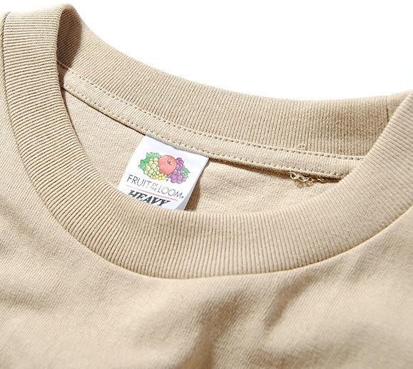 Fruit Of The Loom ヘビーウェイトビッグTシャツ ベージュM 厚手 ヘビー 半袖 カットソー ルーズシルエット フルーツオブザルーム ブランド_画像3