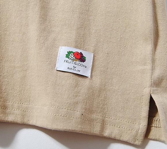 Fruit Of The Loom ヘビーウェイトビッグTシャツ ベージュM 厚手 ヘビー 半袖 カットソー ルーズシルエット フルーツオブザルーム ブランド_画像4