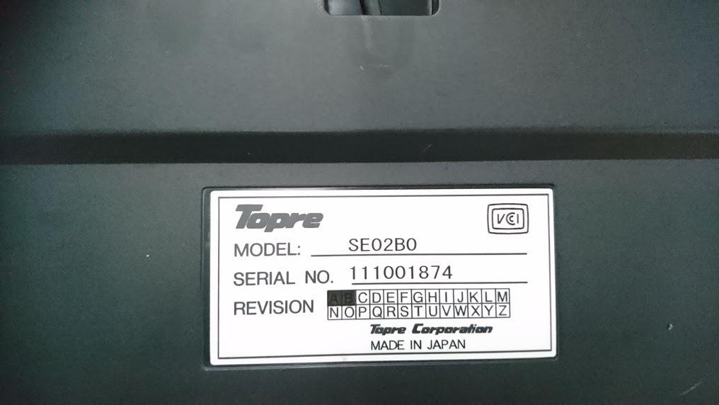 東プレのUS配列英語キーボード Realforce103U SE02B0_画像2