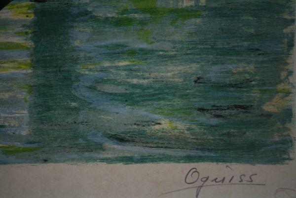 文化勲章受章 荻須高徳 「小 運 河 」 和紙摺り「限定リトグラフ 1972年_画像7