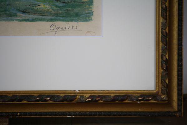 文化勲章受章 荻須高徳 「小 運 河 」 和紙摺り「限定リトグラフ 1972年_画像8