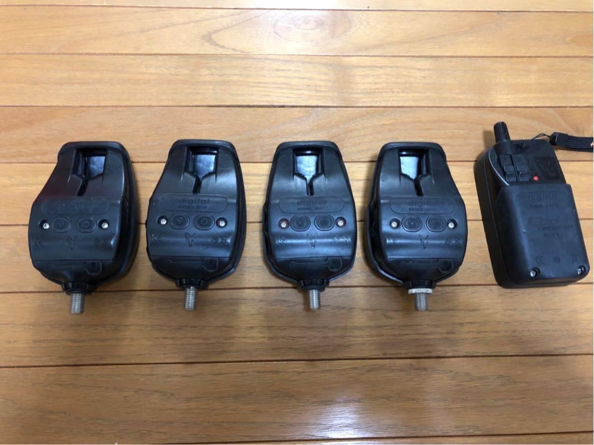 ★送料込 新品同様 鯉釣りセンサー FOX RX+ 4台セット 新品で約18万円_画像3