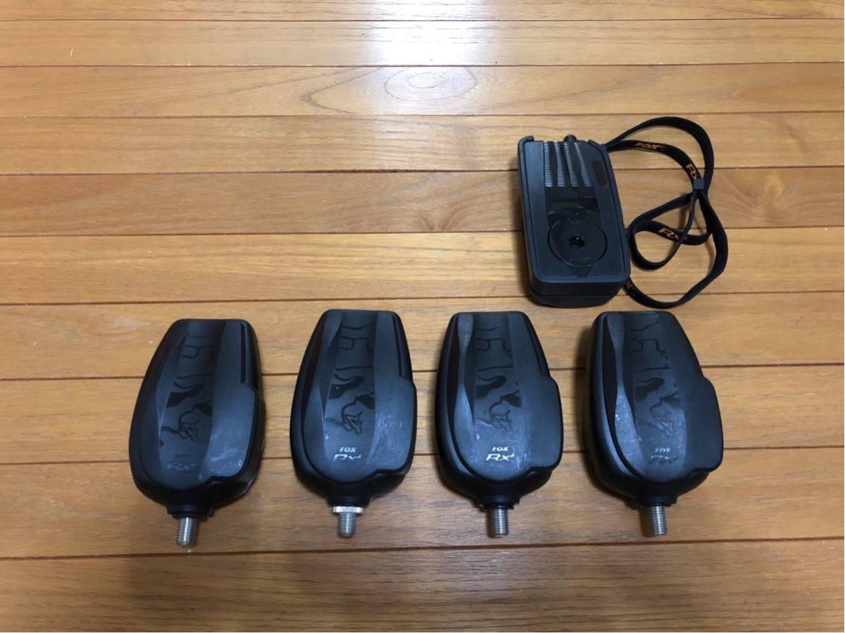 ★送料込 新品同様 鯉釣りセンサー FOX RX+ 4台セット 新品で約18万円