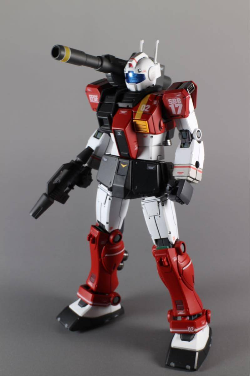HG ジムキャノン(空間突撃仕様) 塗装済完成品_画像5