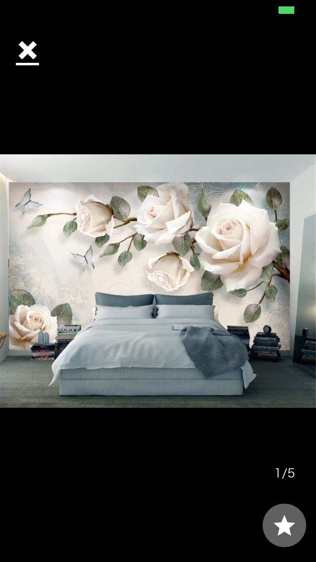 現代 3D 壁紙ハンドペイント油絵花ユーロ背景の壁の装飾壁画 papel デ parede 壁紙 beibehang_画像1