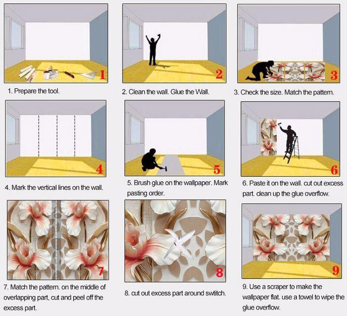 カスタム 3D 立体ジュエリーダイヤモンドホワイトラインシルクアート壁壁画壁紙リビングルームのテレビの背景 Murales デ パレー 3D_画像9