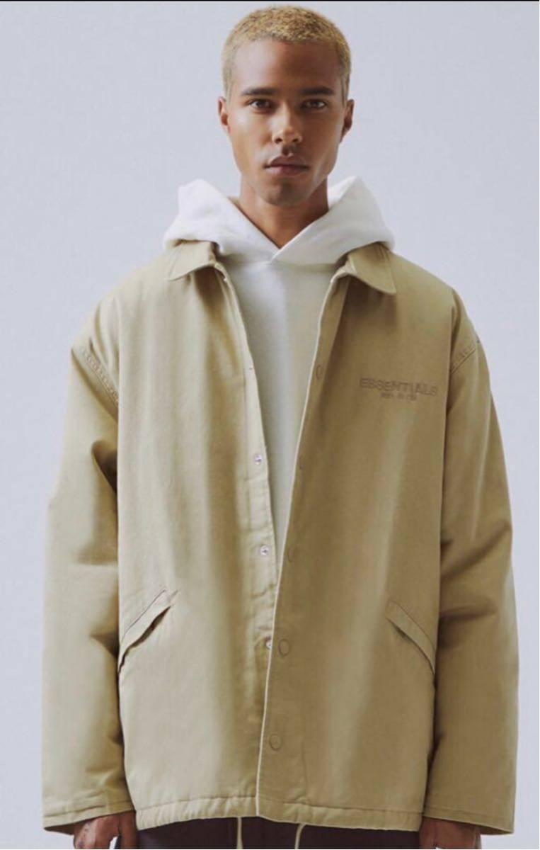 pacsan 購入 Lサイズ FOG Fear Of God Essentials work jacket ワークジャケット タン フィアオブゴッド エッセンシャルズ 19 fw