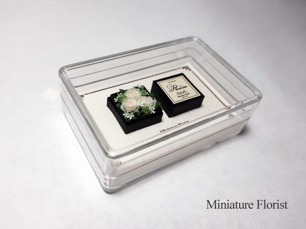 Miniature Florist 1/12 ミニチュア クレイフラワー ドールハウス 粘土の花 バラ ボックスフラワー _画像5