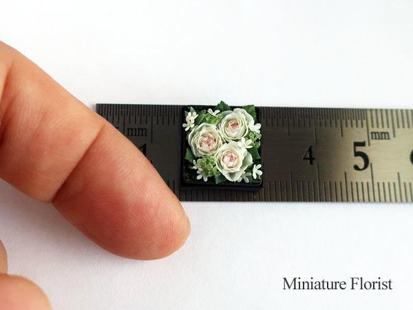 Miniature Florist 1/12 ミニチュア クレイフラワー ドールハウス 粘土の花 バラ ボックスフラワー _画像2