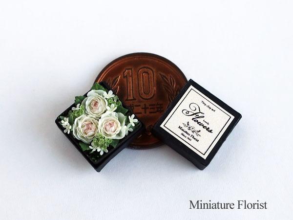 Miniature Florist 1/12 ミニチュア クレイフラワー ドールハウス 粘土の花 バラ ボックスフラワー