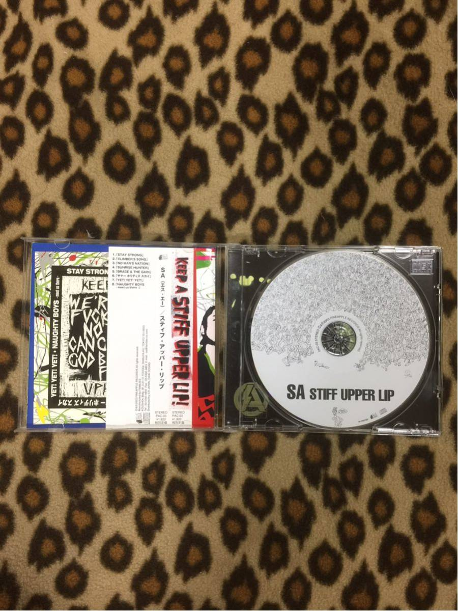 SA CD stiff upper lip エスエー パンク ロカビリー ネオロカ ロックンロール クリームソーダ ピンクドラゴン ジャパロカ_画像3