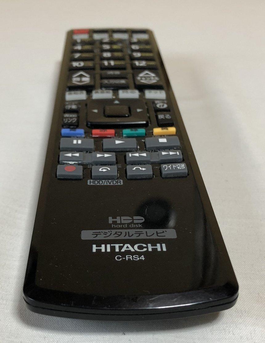 送料185円☆テレビリモコン 日立 HITACHI C-RS4 作動確認OK☆ク⑮_画像6