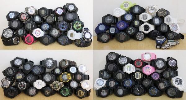 美品多数 動品 まとめ CASIO G-SHOCK Baby-G 100個 メンズ・レディース カシオ 全稼動品