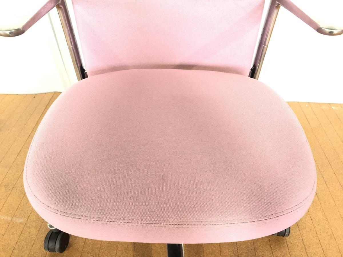 ■展示品■Vitra/ヴィトラ Pacific Chair/パシフィックチェア タスクチェア オフィスチェア 椅子 ピンク■1126_画像8