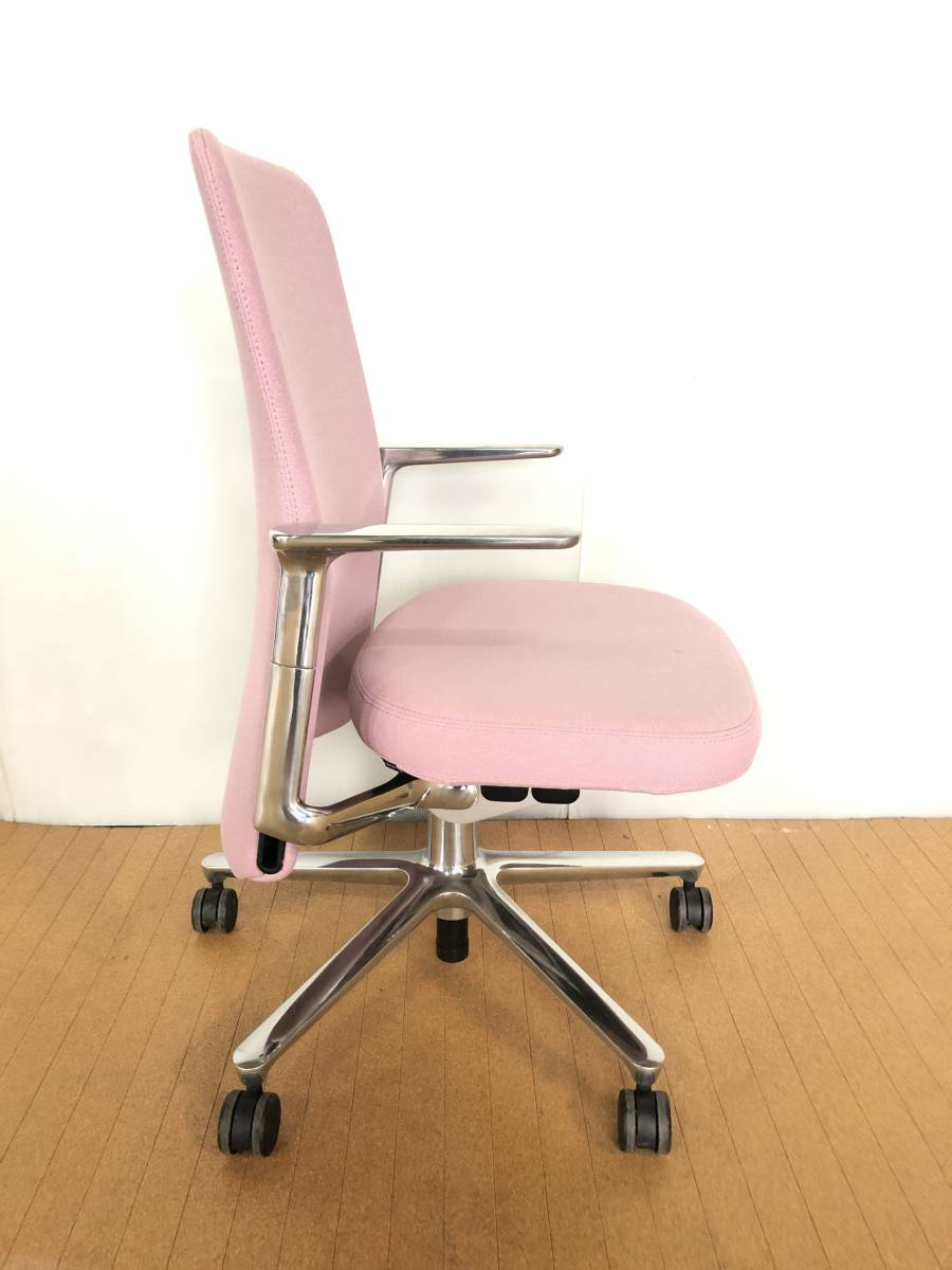 ■展示品■Vitra/ヴィトラ Pacific Chair/パシフィックチェア タスクチェア オフィスチェア 椅子 ピンク■1126_画像2
