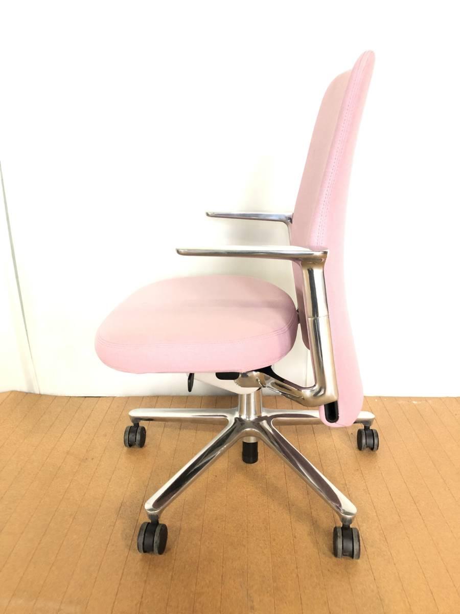 ■展示品■Vitra/ヴィトラ Pacific Chair/パシフィックチェア タスクチェア オフィスチェア 椅子 ピンク■1126_画像4