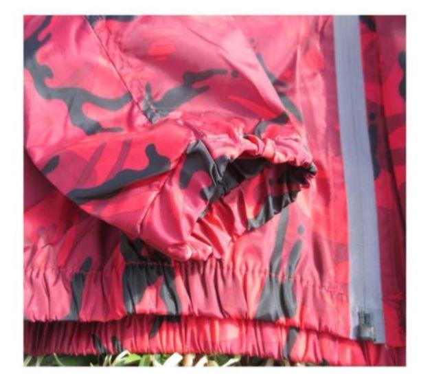 新品 送料無料 L レッド 迷彩柄 マウンテンパーカー トレーニングウェア カモフラージュ 薄手 軽量 防風 アウトドア レジャー ハイキング_画像7