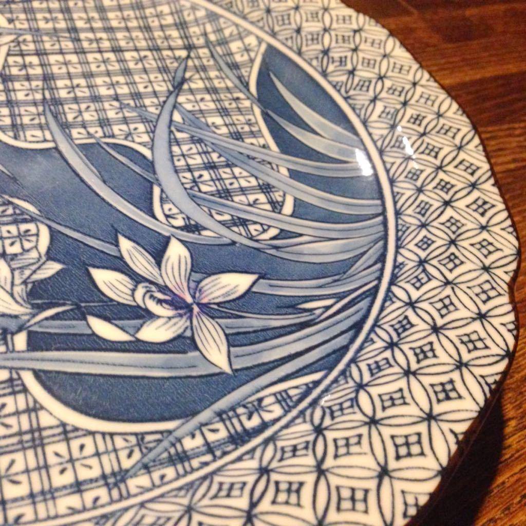 2枚セット昭和レトロ 藍色の中皿 古民家カフェなどに 日本製 ヴィンテージ 古道具_画像5