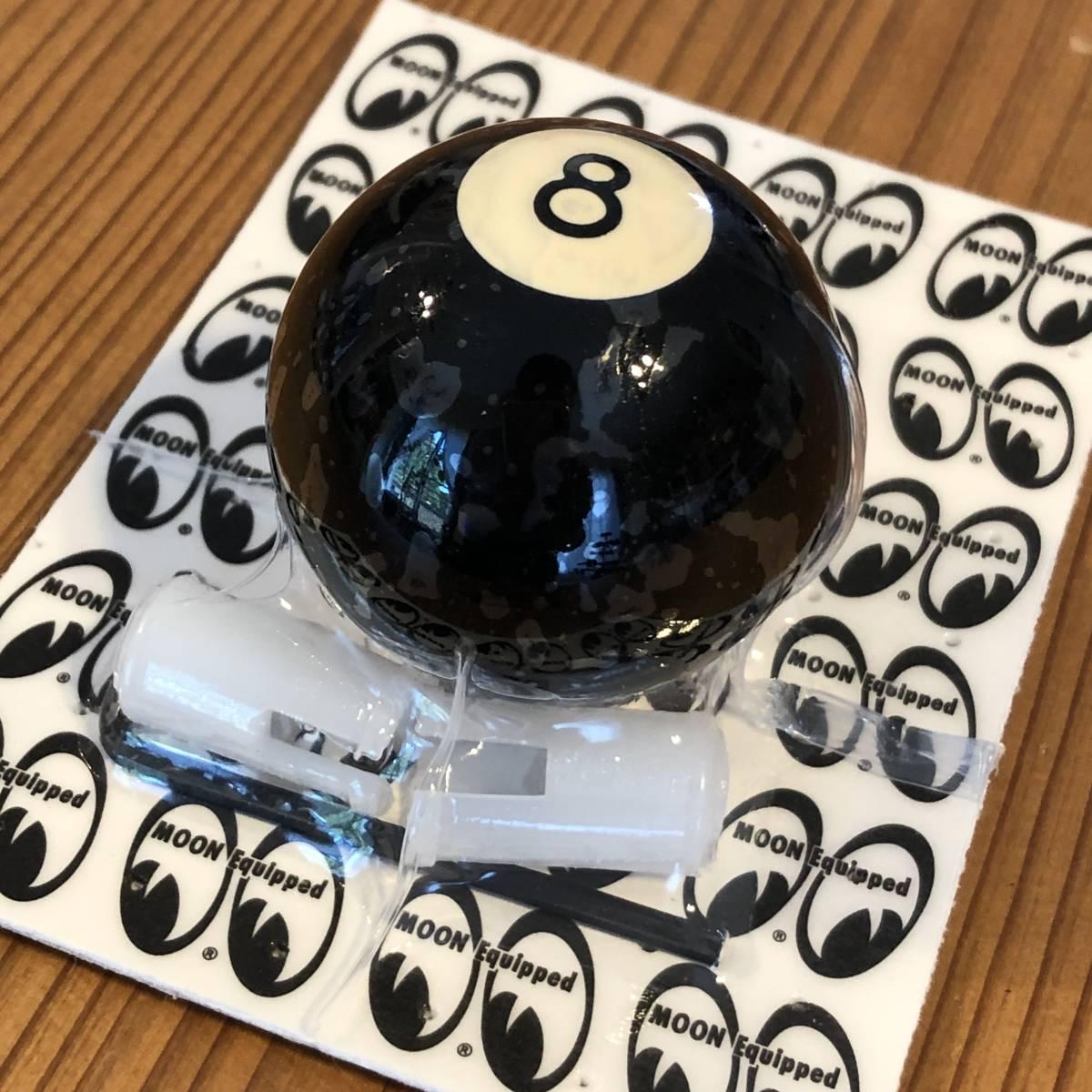 黒 ブラック シフトノブ 8ボール Sサイズ 直径3.5cm mooneyes 好きな方に moon eyes ムーンアイズ シフト ノブ アメリカン ずっしり USA_画像1
