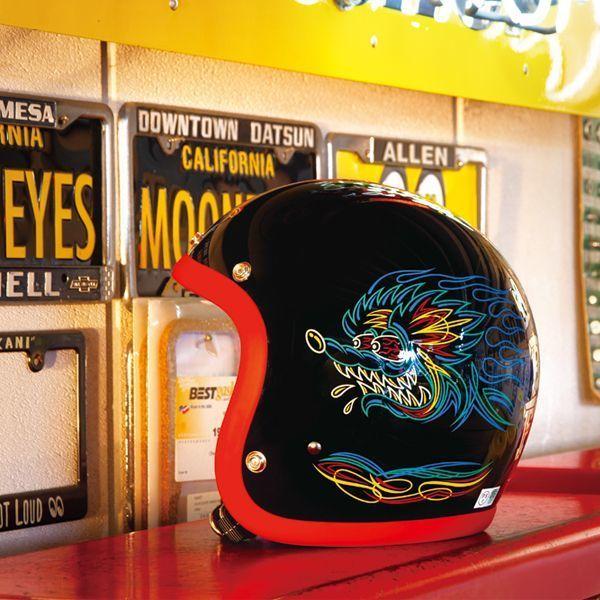 Greaser Rat Fink 2019 Sサイズ ラットフィンク レッド トリム mooneyes ムーンアイズ ヘルメット バイク ジェットヘル ジェッペル_画像1
