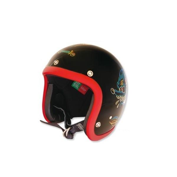 Greaser Rat Fink 2019 Sサイズ ラットフィンク レッド トリム mooneyes ムーンアイズ ヘルメット バイク ジェットヘル ジェッペル_画像2