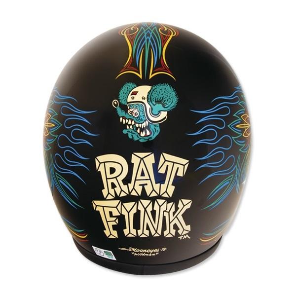Greaser Rat Fink 2019 Sサイズ ラットフィンク レッド トリム mooneyes ムーンアイズ ヘルメット バイク ジェットヘル ジェッペル_色違いですがデザインの確認でご覧ください