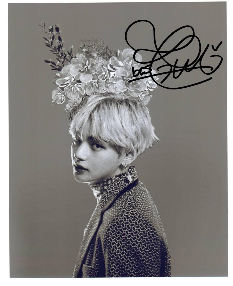 V (BTS 防弾少年団)  直筆サイン入り写真 証明書付き 韓国 K-POP テテ 「Stigma」「花郎」