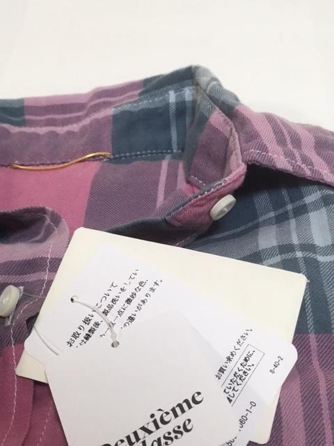 ドゥーズィエムクラス チェックシャツ 未使用_画像4