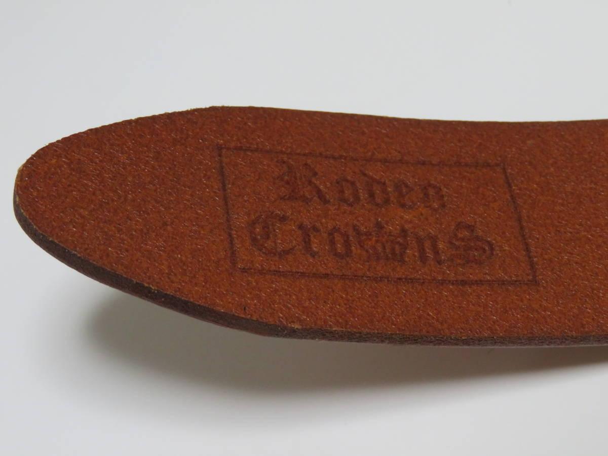 Rodeo Crownsロデオクラウンズ レザーベルト 花柄 1個 ハート型(バックル)レザーベルト ブラウン色 1個 美品_画像8
