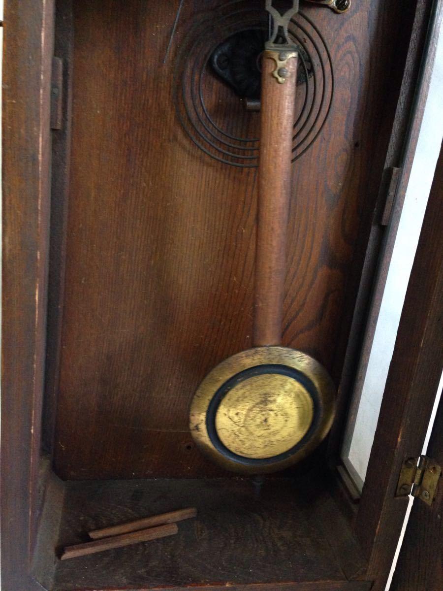 TRADE MARK SEIKOSHA 振り子時計 精工舎 ゼンマイ 昭和レトロ 古時計 掛時計 アンティーク時計 柱時計 掛け時計 インテリア_画像4