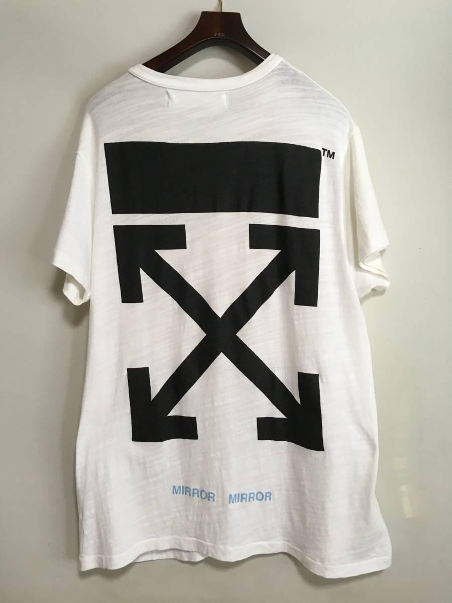 国内正規 OFF-WHITE オフホワイト 17AW CARAVAGGIO TEE Tシャツ S イーストランドタグ_画像2