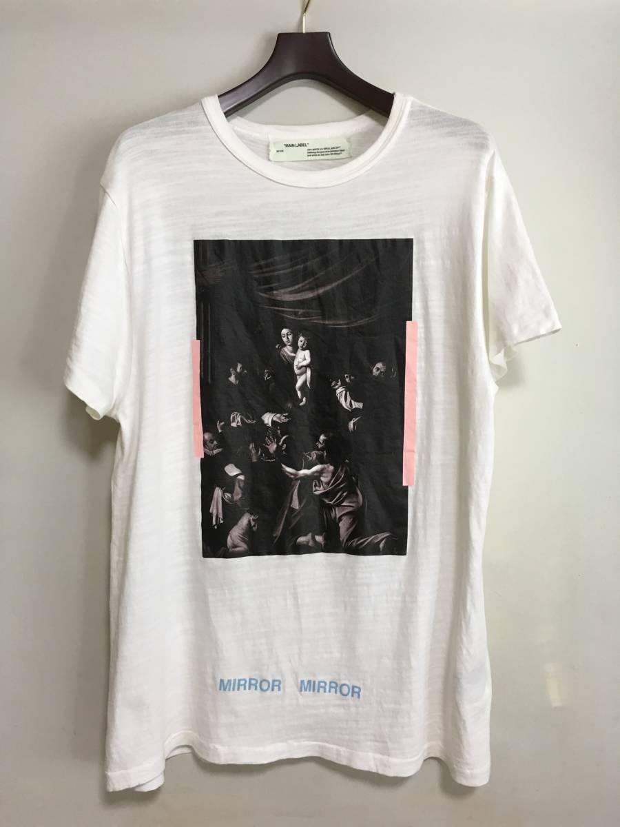 国内正規 OFF-WHITE オフホワイト 17AW CARAVAGGIO TEE Tシャツ S イーストランドタグ_画像1