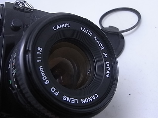 ☆ キャノン Canon AE-1Pプログラム(メンテナンス済み・モルト交換済み)+NEW FD 50mmF1.8(後玉の端に僅かなコーティングハガレ有)☆_画像2