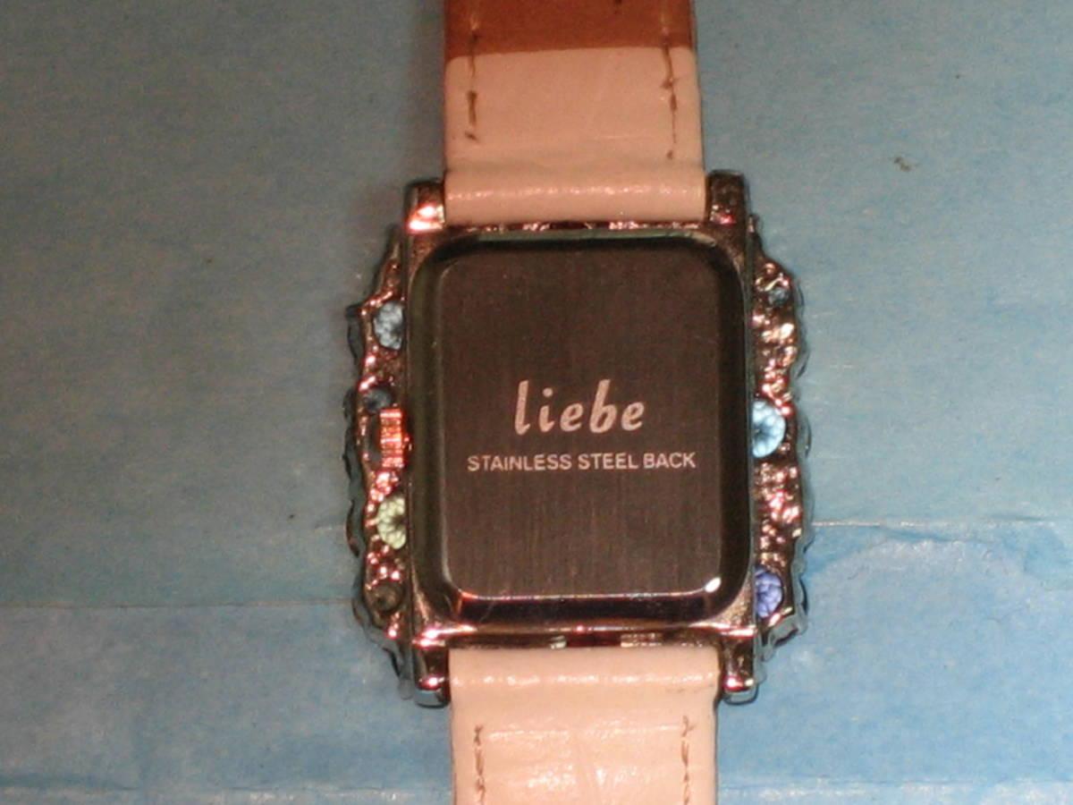◆liebe(リエベ) レディース腕時計 白ベルト 動作品◆_画像5